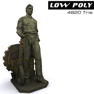 3d sculpture ready games model