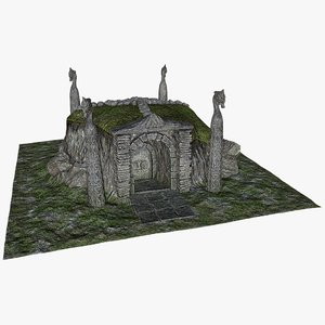 hill grave obj