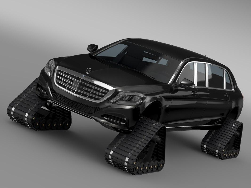 mercedes maybach pullman crawler 3d model