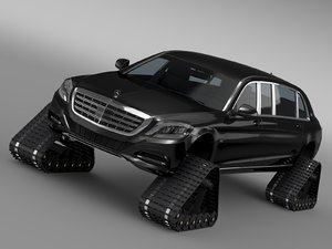mercedes maybach pullman crawler 3d model
