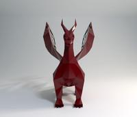 3d dragon modelled model