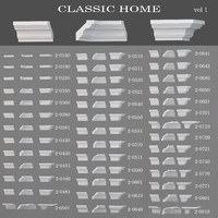 3d ceiling cornices classic home model