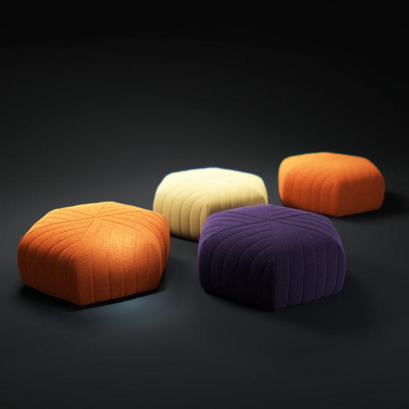 muuto-five-pouf 3d model