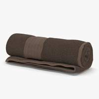 3d rolled towel brown model