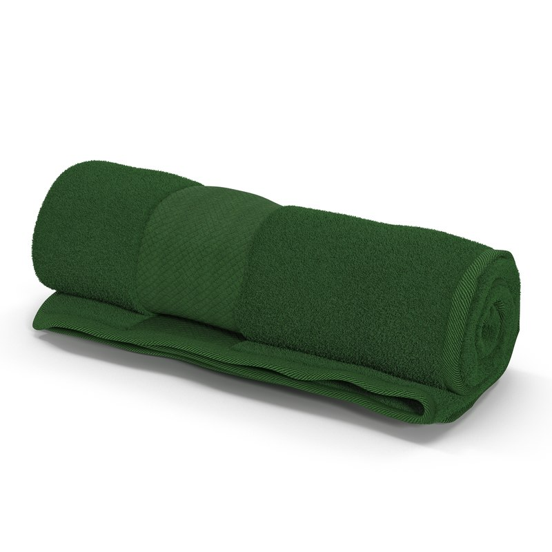 3d rolled towel green