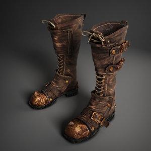 3d boots games model