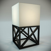 3d lamp contemporaine caillebotis mm model