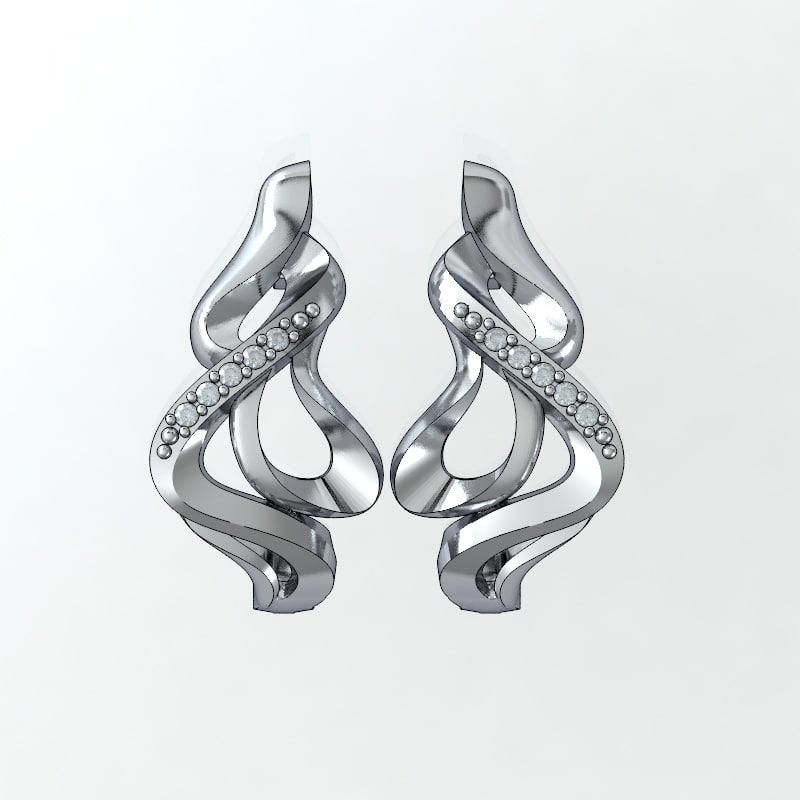 jewelry earrings 3ds