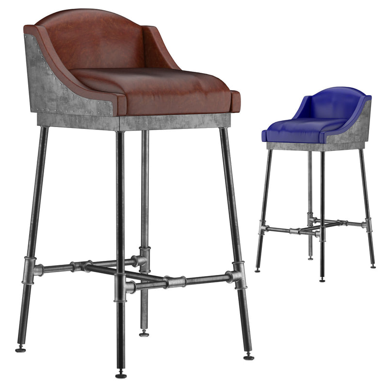 3d iron scaffold bar stool
