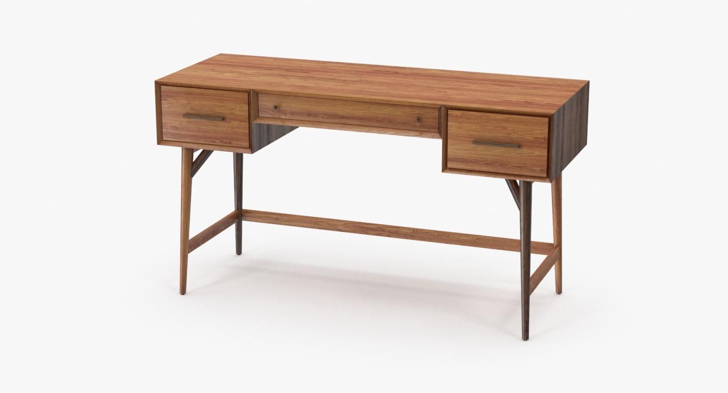 desk design 3d model