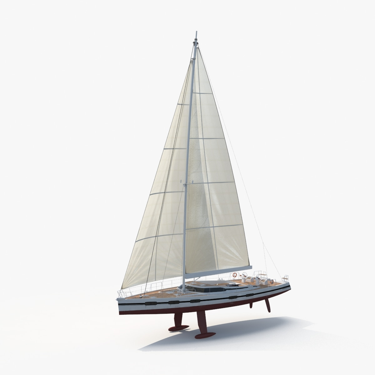 nautical sailboat 3d model