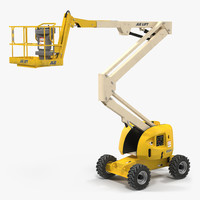 Telescopic Boom Lift JLG 450AJ Yellow Rigged
