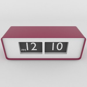 modern table clock obj