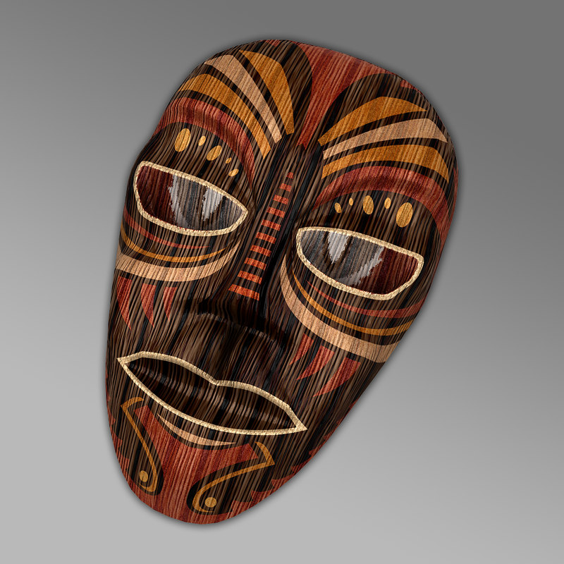3d mask antique ornaments