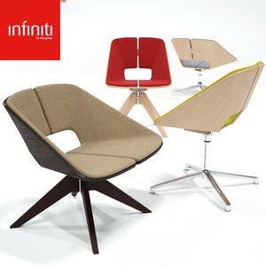 3d infiniti hug swivel chairs model