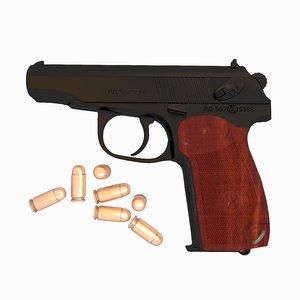 3d model makarov pistol