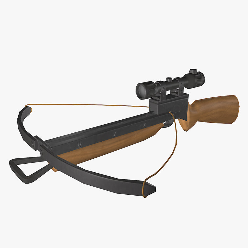 crossbow bow cross 3d model