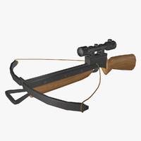 crossbow bow cross 3d model