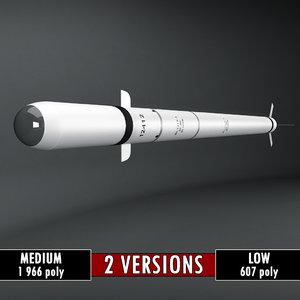 3d sa-7 rocket polys