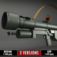 sa-7 grail launcher 3d model