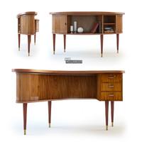 Kidney Shaped, Danish Modern Desk