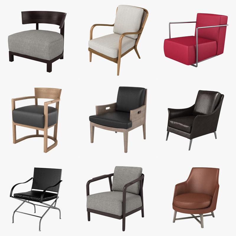 3d model of flexform chairs