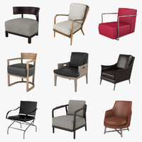 3d model of flexform chairs