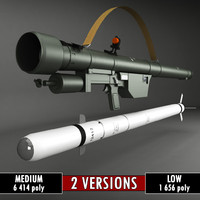 SA-7 Gral Rocket Launcher Pack low poly
