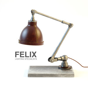 hand moulded leather desk lamp 3d max