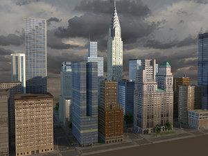 city metropolis generic 3ds