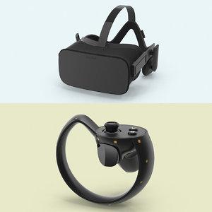 oculus rift set 3d model