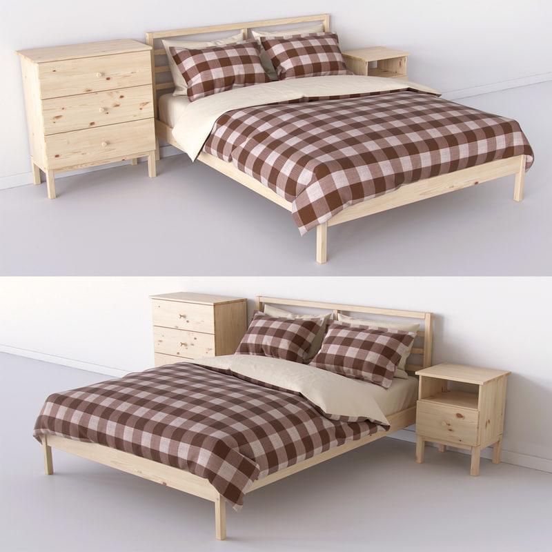 bedroom set tarva ikea 3d max