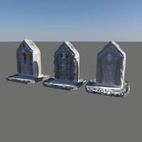 x tombstone stone tomb