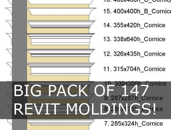 3d model of moldings profile