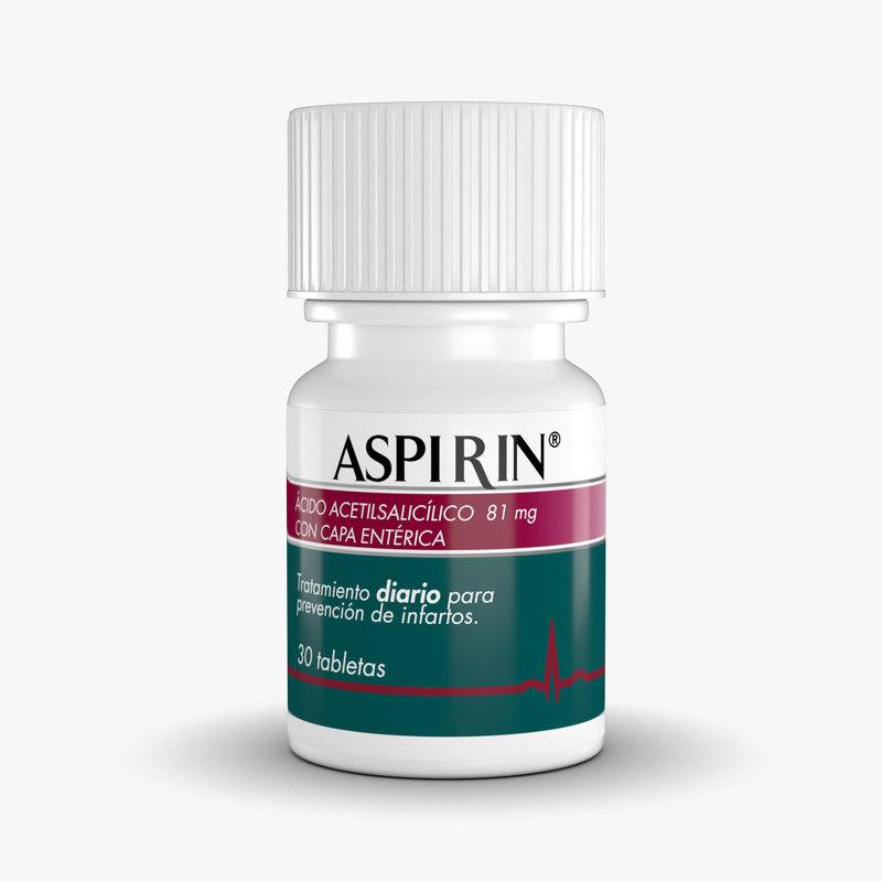 aspirin bottle 3d model