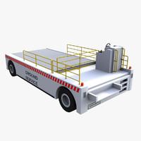 3d airport cargo loader model