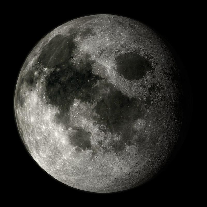3d c4d moon solar