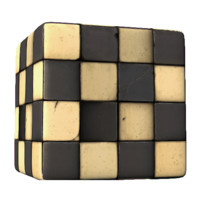Old Checkered Tile
