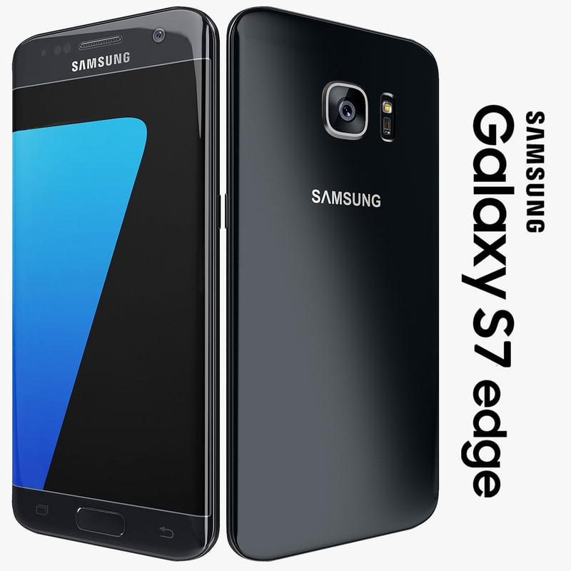 3d samsung galaxy s7 edge model