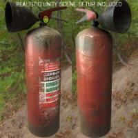 3d model rusty extinguisher