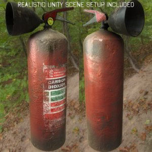 3d model rusty extinguisher