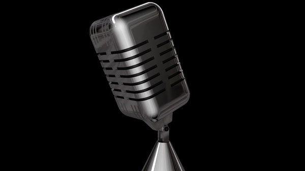 retro microphone 3d c4d