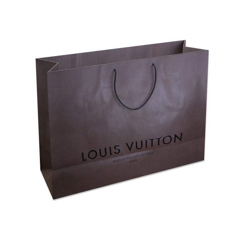shopping bag louis vuitton 3d obj