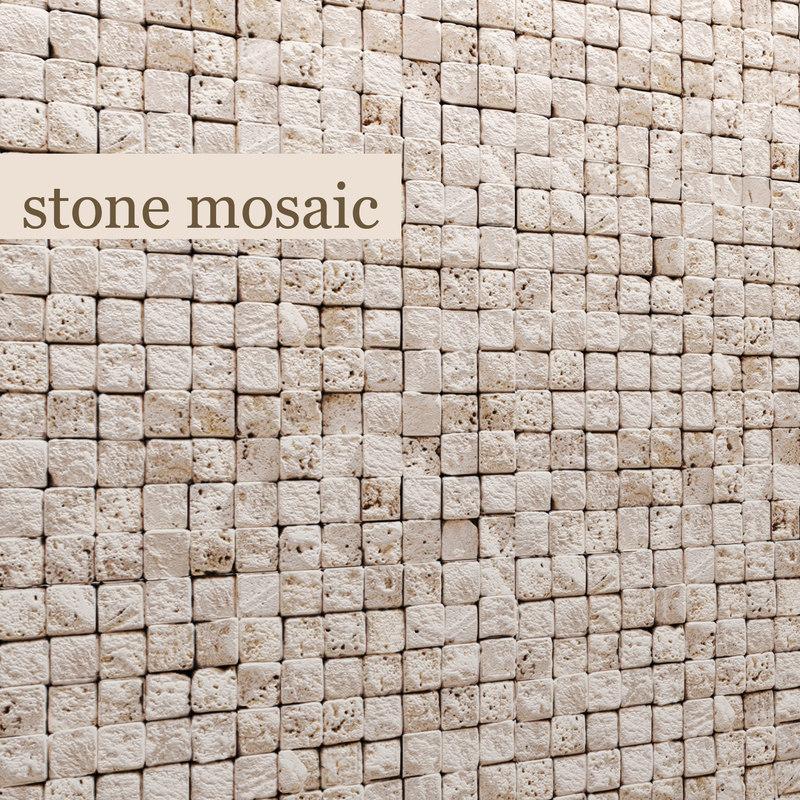 3d stone mosaic marble model