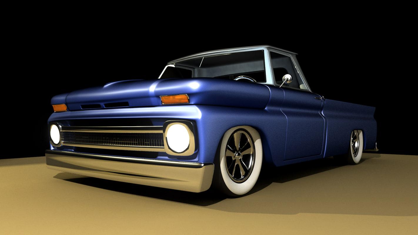 3d 1964 chevy truck model