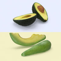3d model avocado variation
