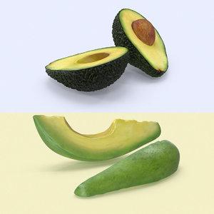 3d model avocado variation