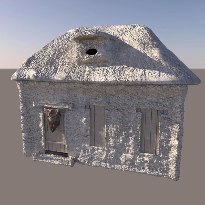 fantasy stone house 3d model