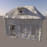fantasy stone house 3d model