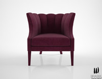 3d model brabbu begonia armchair